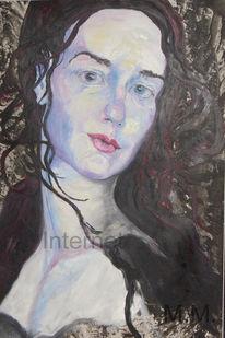 Portrait, Figural, Schön, Akt