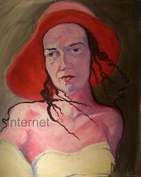 Sitzen, Malerei, Portrait, Akt
