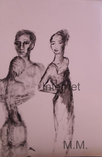 Bleistiftzeichnung, Frau, Gemälde, Akt