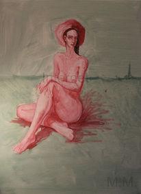 Allein, Portrait, Figural, Akt