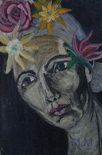Blumen, Malerei, Melancholioe, Portrait