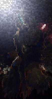 Portrait, Feuer, Akt, Digital