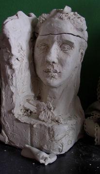 Skulptur, Trauer, Portrait, Büste