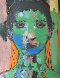 Portrait, Figural, Malerei, Zweifel