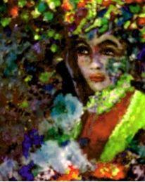 Romantik, Pastellmalerei, Blumen, Acrylmalerei
