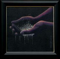 Malerei, Swarovski, Kristall, Ölmalerei