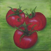 Malerei, Stillleben, Acrylmalerei, Gemüse