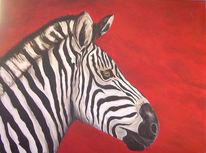 Zebra, Pferde, Malerei, Tiere