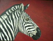 Pferde, Zebra, Malerei, Tiere