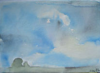 Malerei, Landschaft, Wolken