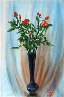 Rose, Malerei, Stillleben, Skizze