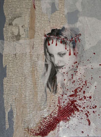 Kreuzigung, Leid, Krönen, Blut
