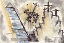 Tusche, Auferstehung, Abstrakt, Malerei