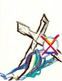 Christentum, Malerei, Kreuz, Abstrakt