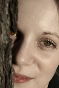 Frau, Baum, Portrait, Fotografie