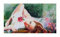 Rose, Ruhe, Erotik, Malerei