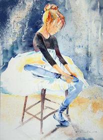 Malerei, Licht, Ballerina, Zierlich