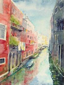 Venedig, Malerei, Kanal