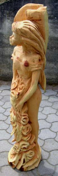 Elfen, Kettensägekünstler, Figural, Skulptur