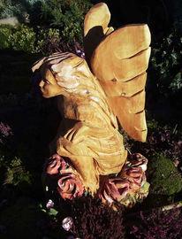 Figural, Plastik, Engel, Holz