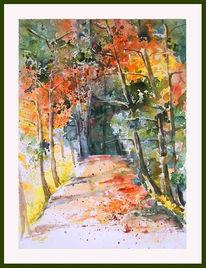 Bunt, Malerei, Wald, Landschaft