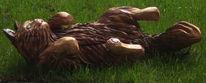 Holz, Skulptur, Kaze, Figural