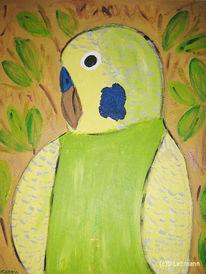 Malerei, Freiheit, Sittich, Figural
