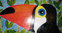 Exotisch, Malerei, Leben, Vogel