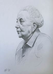 Alte frau, Zeichnungen, Portrait, Dame