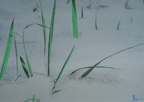 Kalt, Gras, Schnee, Winter