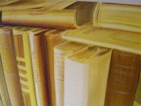 Gelb, Monochrom, Bibliothek, Braun