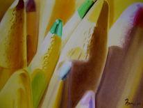 Nahaufnahme, Holzstifte, Fotorealismus, Malerei