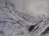 Monochrom, Nahaufnahme, Wasser, Welle