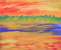 Malerei, Acrylmalerei, Masarie, Abstrakt