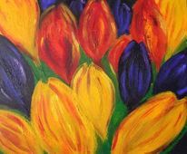 Masarie, Blumen, Acrylmalerei, Malerei