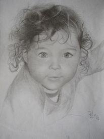 Kind, Portrait, Baby, Zeichnung