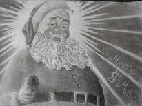 Weihnachtsmann, Weihnachten, Zeichnungen, Menschen