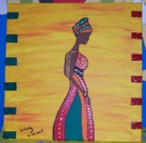 Afrika, Acrylmalerei, Malerei