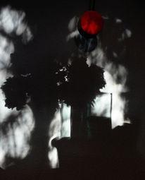 Vase, Uhrpendel, Schatten, Blumen