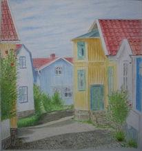 Zeichnungen, Gasse, Schweden