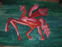 Pegasus, Orientalisch, Abstrakt, Malerei