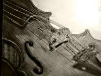 Stillleben, Zeichnung, Bleistiftzeichnung, Violine