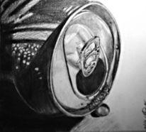 Stillleben, Zeichnung, Dose, Bleistiftzeichnung