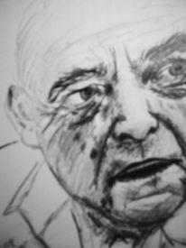 Schwarz, Mann, Zeichnung, Skizze