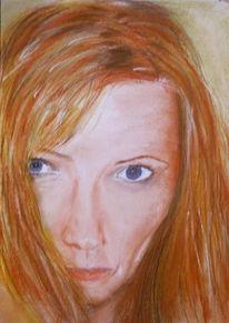 Kreide, Portrait, Zeichnungen