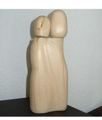 Figural, Beziehung, Skulptur, Plastik
