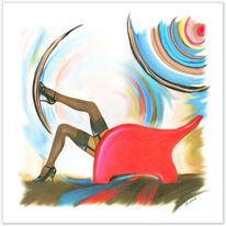 Farben, Zeichnung, Bein, Bunt