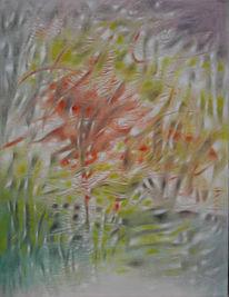 Blumen, Malerei, Abstrakt