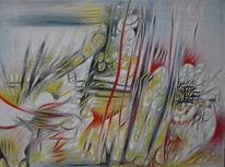 Abstrakt, Malerei, Bewegung