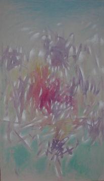 Ölmalerei, Grau, Abstrakt, Malerei